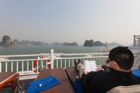 Relaxing on the top deck
