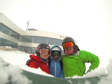 Skiing Stubai Glacier in bad weather