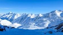 Beautiful views from Stubai Glacier