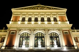 Outside of the Wiener Musikverein, home of the Vienna Philharmonic Orchestra