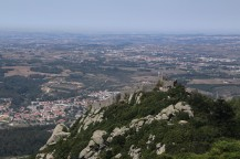 View of the castle of the moors, Sintra