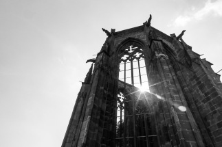Wener chapel - the symbol of Bacharach. Its a UNESCO site, with a complicated history. Only a ruin now