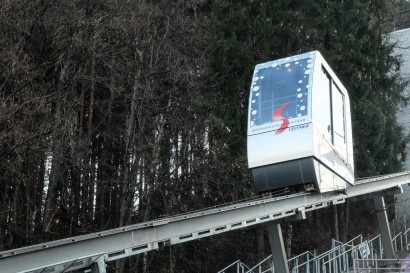 Lift to the top of the ski jump