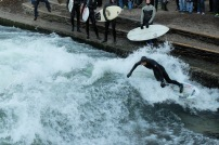 Munich Eisbach River Surfing